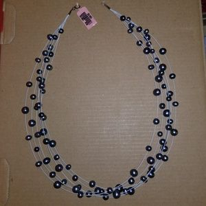 "Jewelry - Floating tahitian color Pearl's 19"" long"